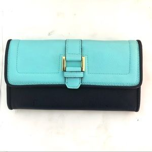 Target Turquoise and black non leather wallet